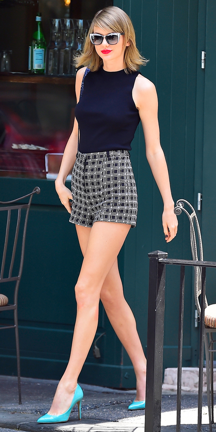 NEW YORK, NY - MAY 26: Taylor Swift is seen in the West Village on May 26, 2015 in New York City. (Photo by Alo Ceballos/GC Images)