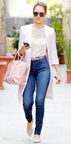 Style Crush Jessica Alba Violet And Blush
